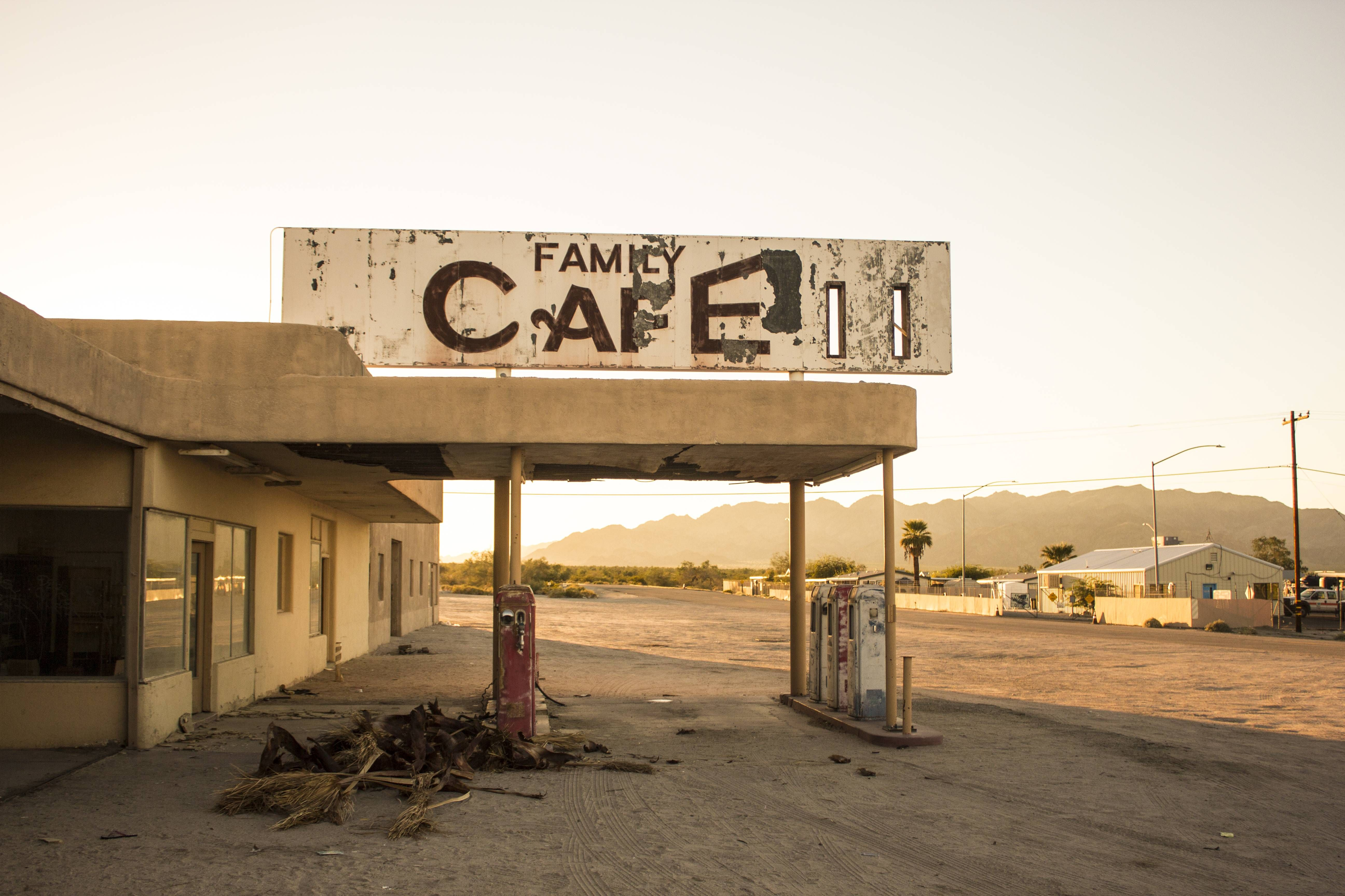 Gas Stations In California >> Abandoned Diner And Gas Station In Desert Center California