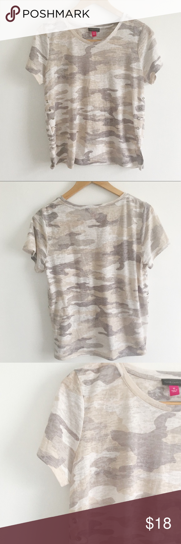 12d4fbec222ec Vince Camuto Camo Tee Adorable camo tee by Vince Camuto. This is a super  soft