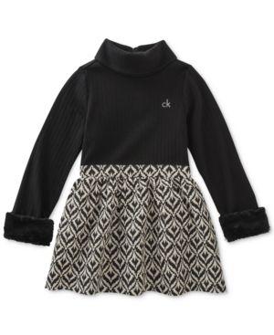 90135a0e93 Calvin Klein Mock-Turtleneck Dress