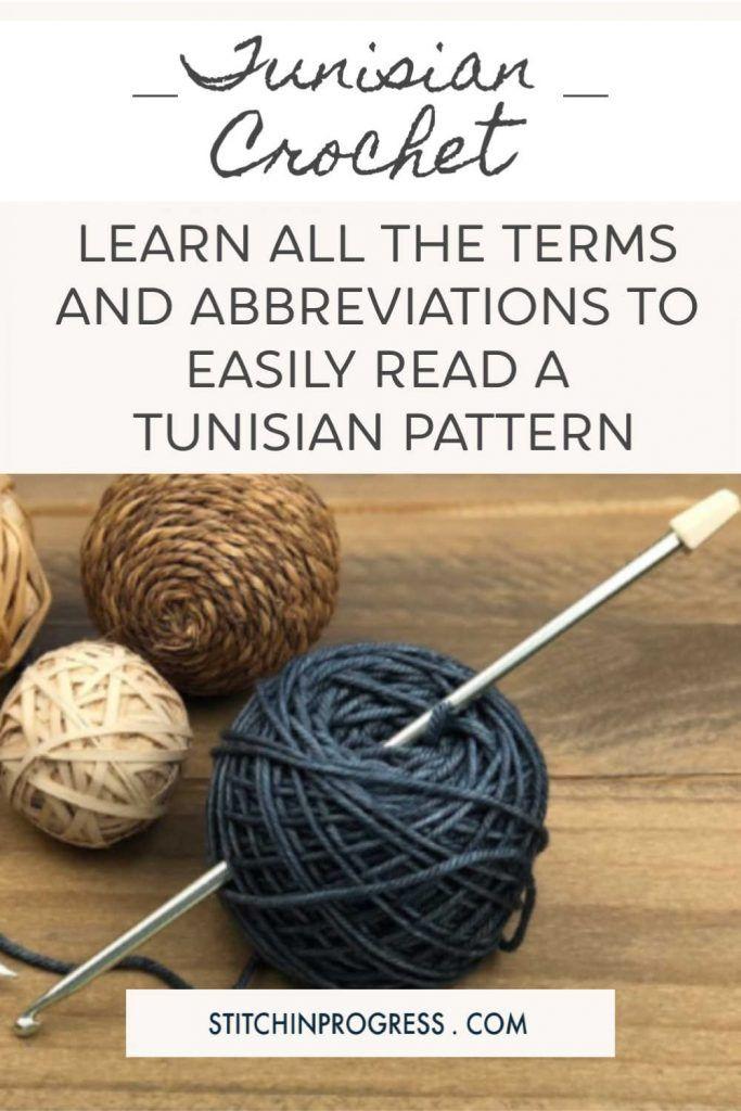 Tunisian Crochet Terms and Abbreviations #tunisiancrochet