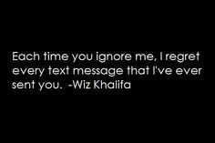 U why ignore me do What Do