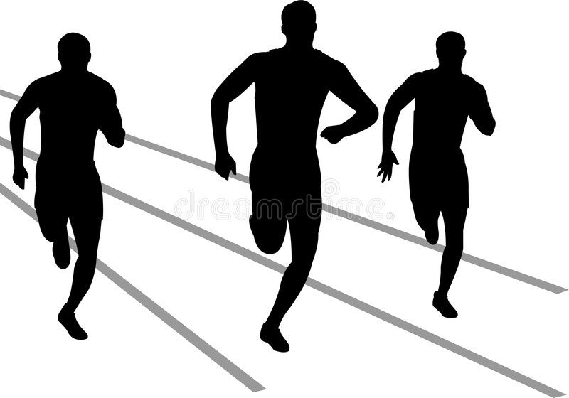 Track Runners Eps Illustration Of Track And Field Athletes Competing In A Race Aff Illustration Track Eps In 2020 Track Runners Running Art Track And Field