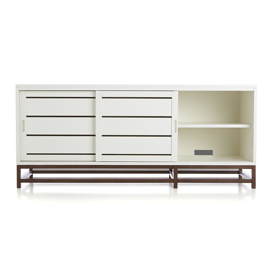 Clapboard White 60 Media Console In Tv Stands Media Consoles