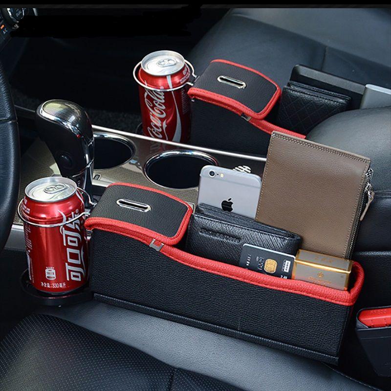 Car Seat Gap Organizer Interior Multifunctional Water Cup Storage Mobile Phone Holder Car Gap Storage Box Car Seat Gap Storage Box