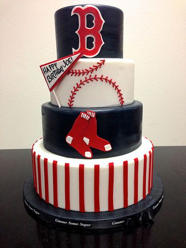 Change The Team But I Like Baseball Theme Party Cakes Red