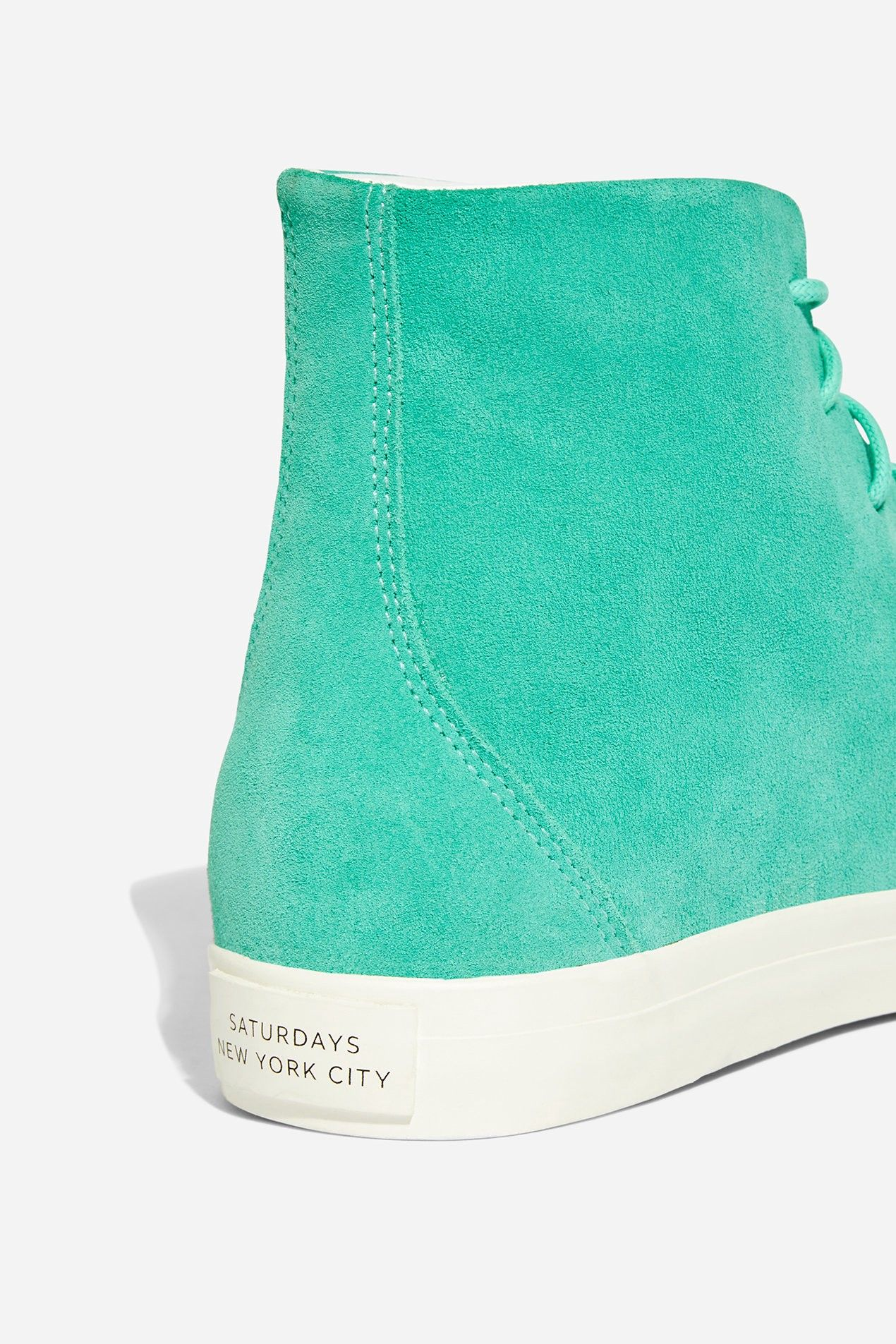 9b686c2b753 Saturdays Nyc Mike High Suede Sneaker Seafoam Green - 8.5 | Products ...