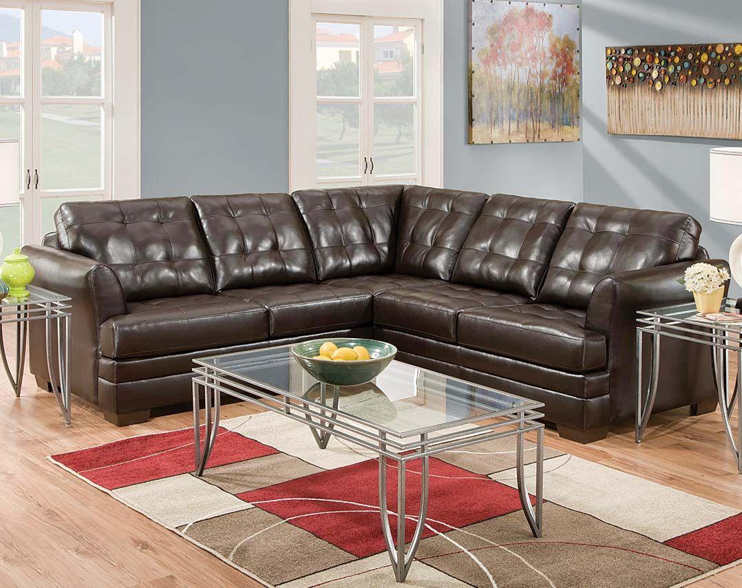 espresso manhattan 2 pc sectional sofa
