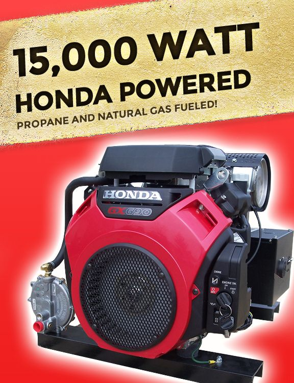 Lovely Honda Powered 15 KW Propane/Natural Gas Generator Price: $2,699
