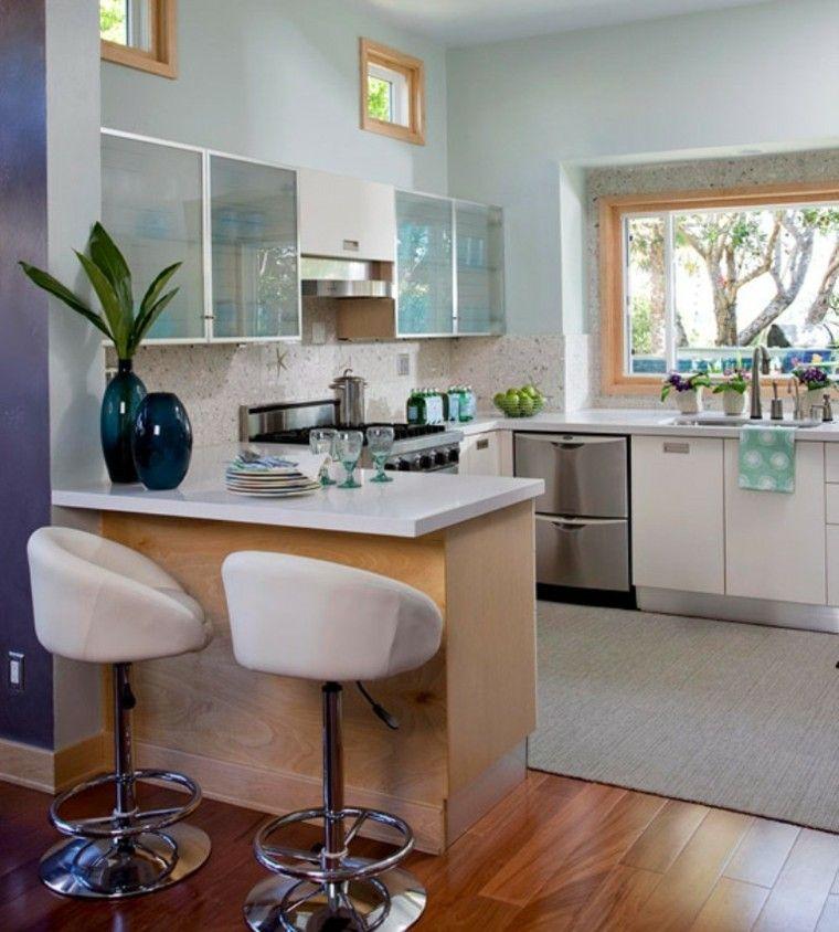 Fotos De Cocinas Pequeñas   Bonitas Cocinas Pequenas En Forma De U Interiores Para Cocina