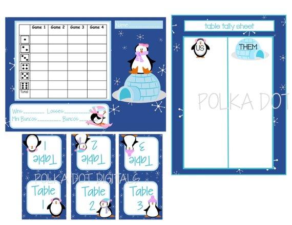 Winter Bunco Score Sheet