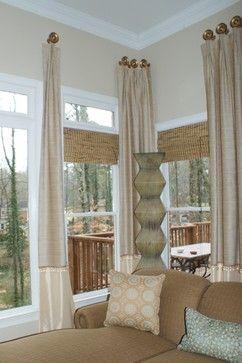 Houzz Kitchen Window Treatments Family Room By Teresa Norwood