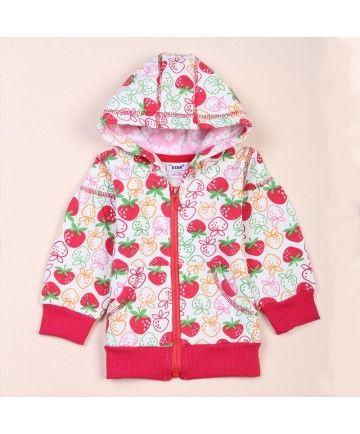 Strawberry Print SMA STAR Kid Brand Children Outwear