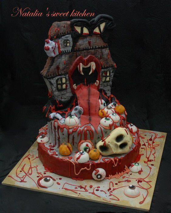 Monster Halloween Cake Halloween - Cakes Pinterest Halloween - halloween cake decorating pictures