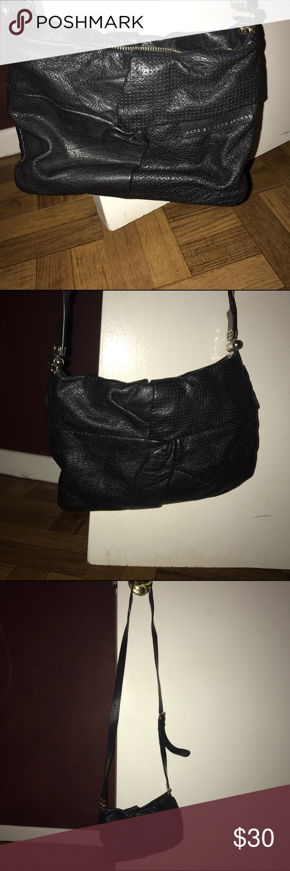 Marc Jacobs crossbody black Marc Jacobs crossbody black. Well loved still has some life left. Please note that the strap is coming apart at the shoulder location of the strap. Not noticeable when wearing. Price reflects condition. Marc by Marc Jacobs Bags Crossbody Bags