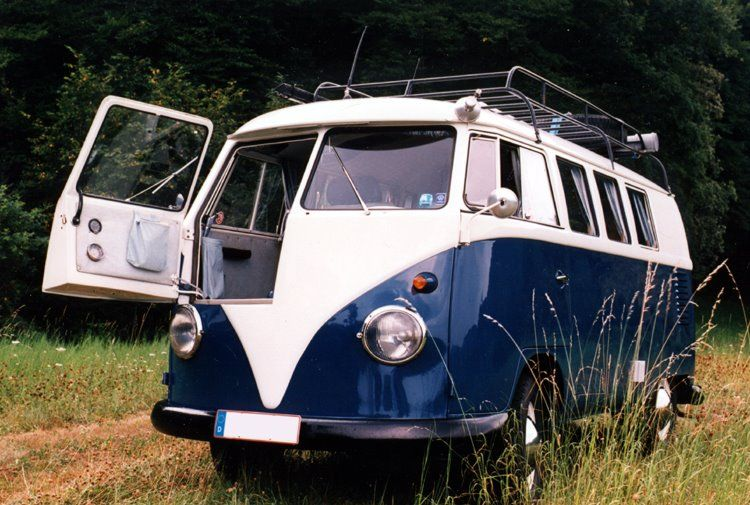VW Bus with front door used for early traffic radar...Brought to you by Agents of #CarInsurance at #HouseofinsuranceEugene
