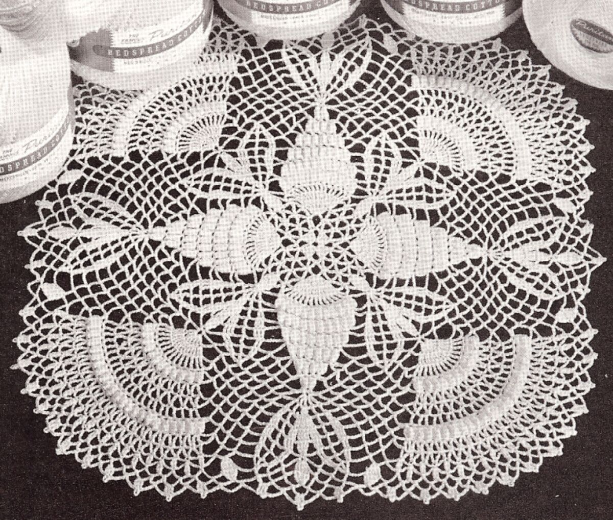 Doily Thread Pineapple Popcorn crochet Pattern | For the Home ...