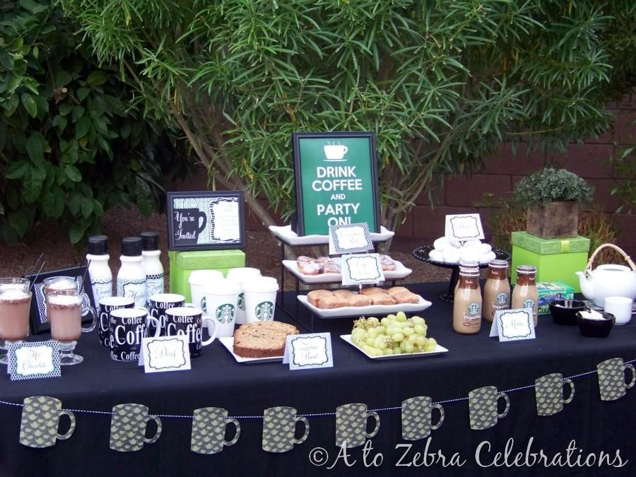 COFFEE PARTY!  (Perfect for a Birthday Brunch or Ladies Get-Together!)