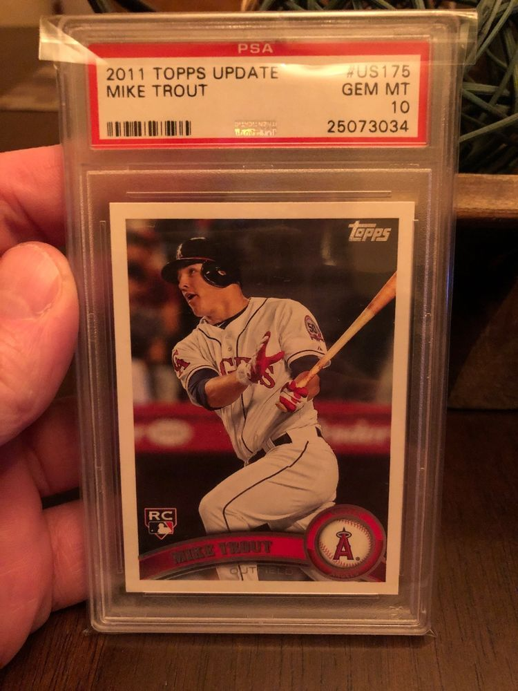 2011 topps update mike trout psa 10 us 175 rookie rc psa