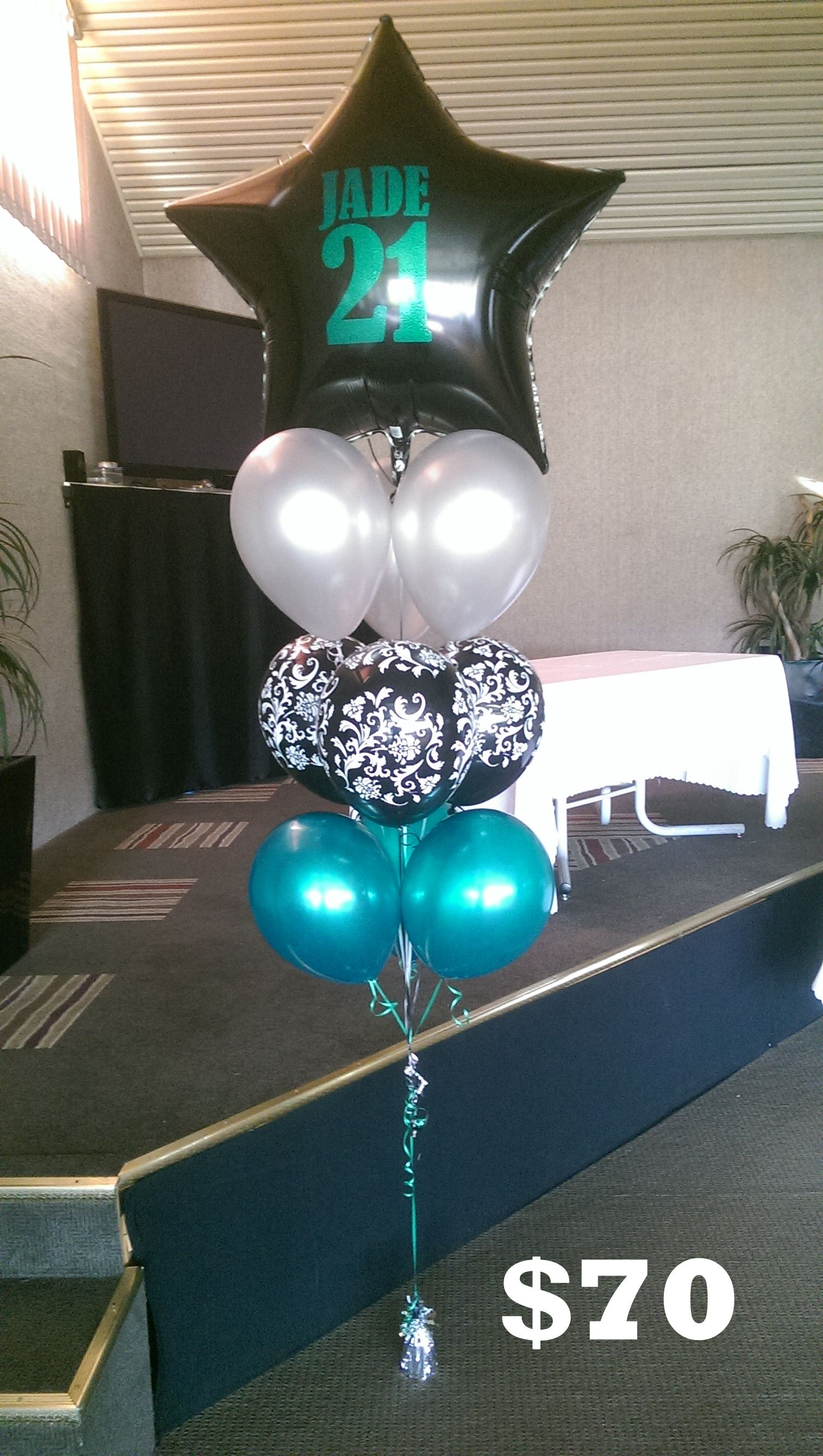 Personalised 36 foil balloon bouquet Balloon Decorations