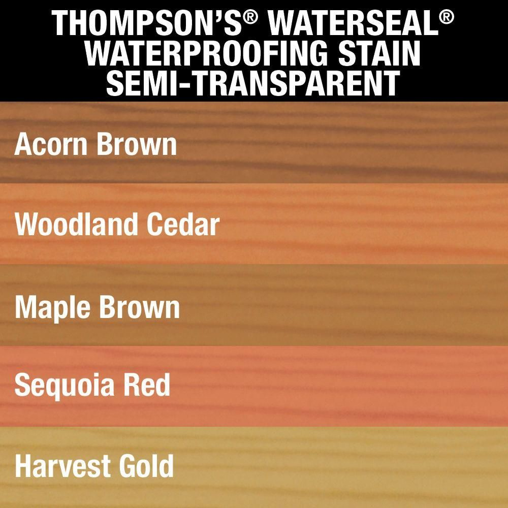 Thompson S Waterseal 1 Gal Semi Transparent Sequoia Red Waterproofing Stain Th 042831 16 The Home Depot Thompson Waterseal Staining Deck Thompsons
