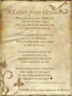 A Letter From Heaven Sympathy Quotes Best Friend Quotes