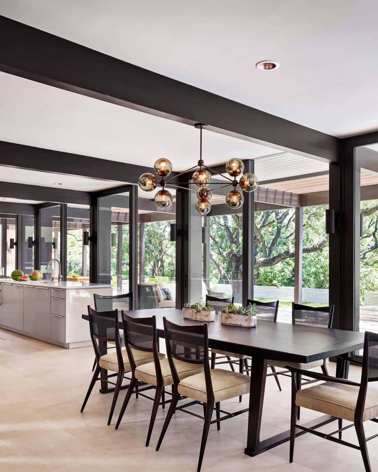 Mid century modern renovation creates inspired living in Austin   Dining room design, Dining ...