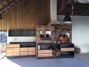 Rustikale Sommerküchenlösung von Spirit of Fire mit Hlzbackofen und Feuerstelle!