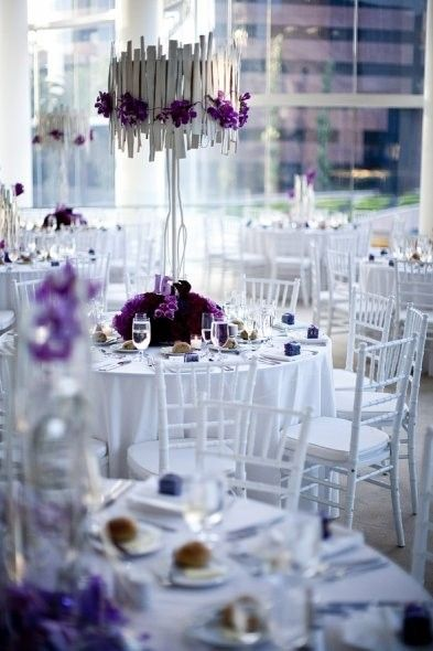 White And Purple Wedding Decor Radiant Orchid Inspired Purple