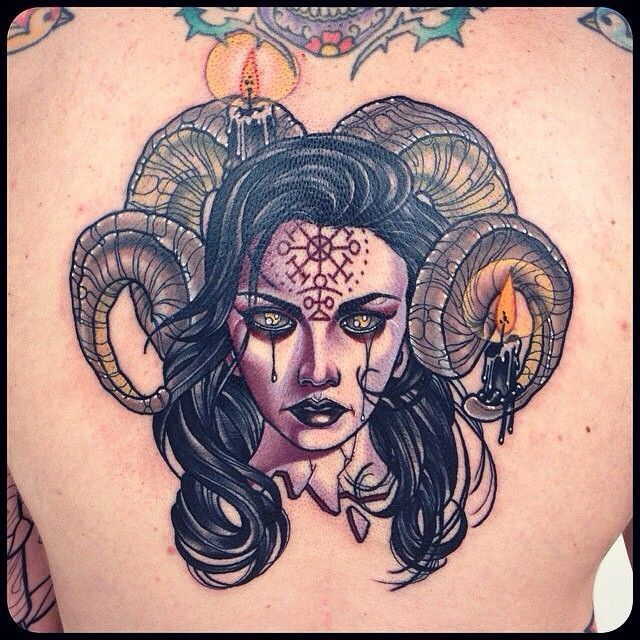 Tattoo Woman Demonic: Pin By Melinda Franzen On Art & Ink