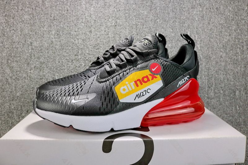 official photos 0a60b a7a21 Latest Nike Air Max 270 Black White Red Noir Blanc Rouge AH8050 015 Mens  Running Shoes