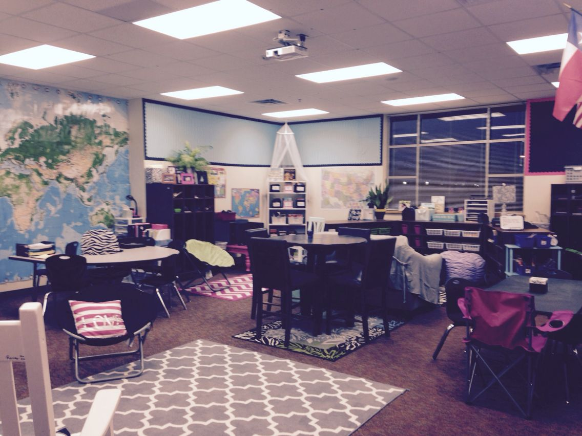 Modern Classroom Seating Arrangement ~ Flexible seating in fourth grade classroom design