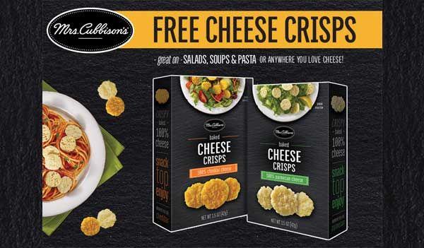 #freefoodsamples #MrsCubbisonsCheeseCrisps #freecheesecrisps #cheesecrisps #MrsCubbisonscoupon #eCoupons #US