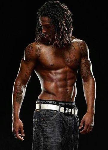 Sexy black man in dreadlocks picture 90