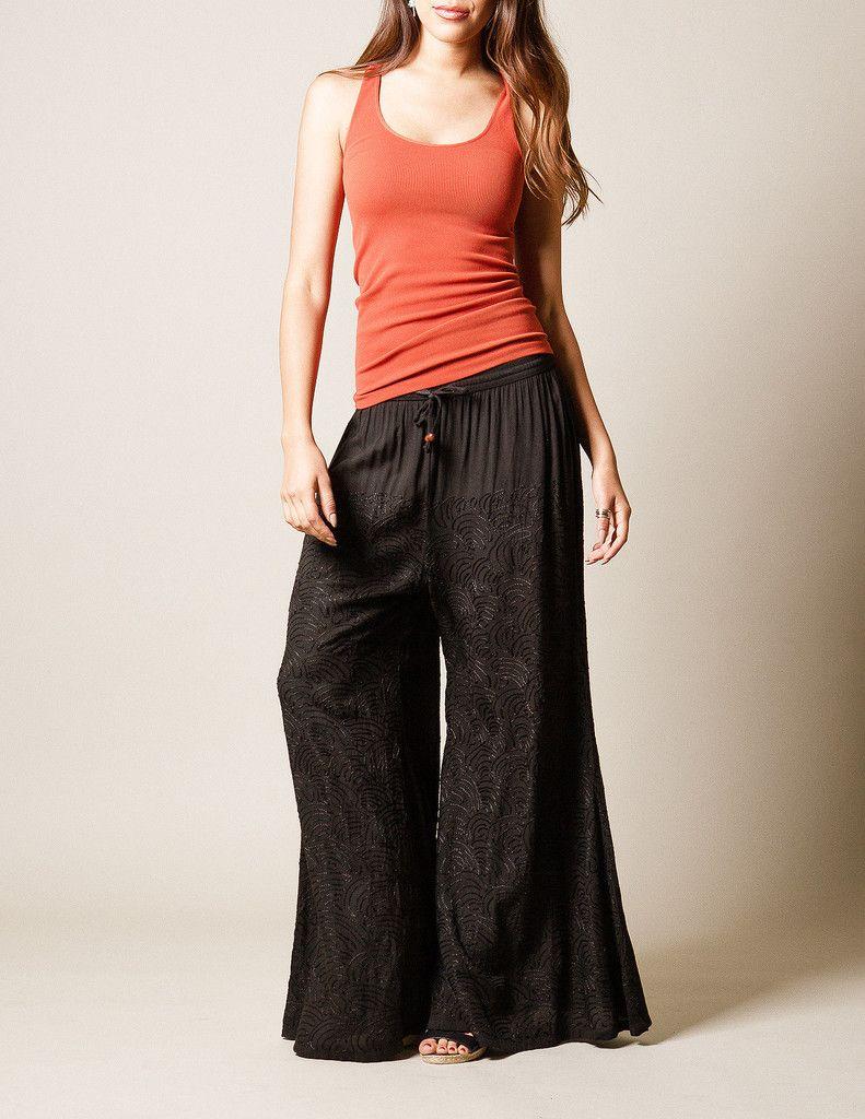 Sivana — Embroidered Zen Pants Clothes, Pants, Boho chic