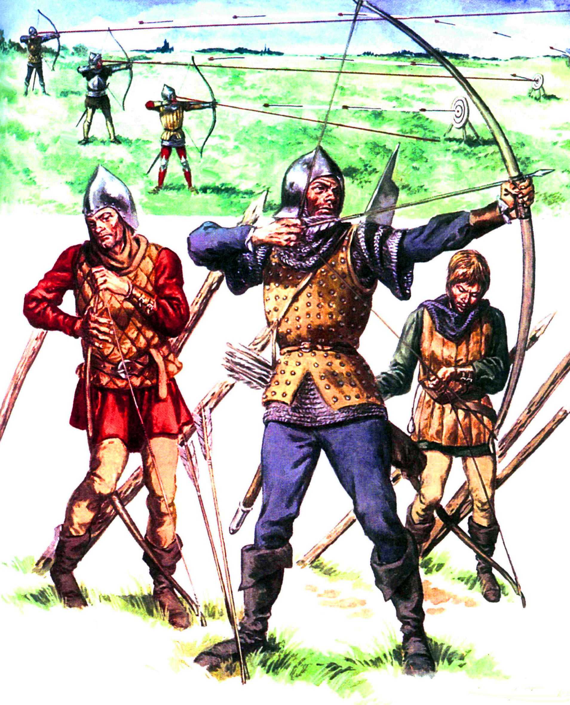 English Longbowmen Hundred Years War