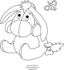Dibujos Para Colorear De Winnie Pooh Y Sus Amigos Bebes