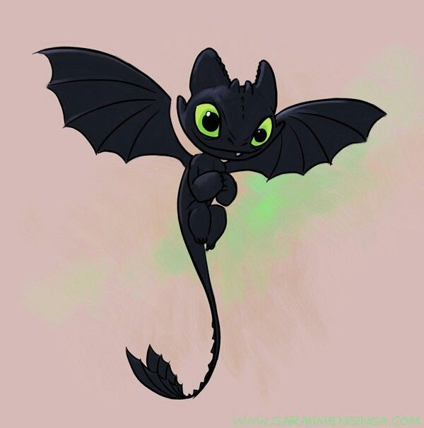 Baby dragon from how to train your dragon