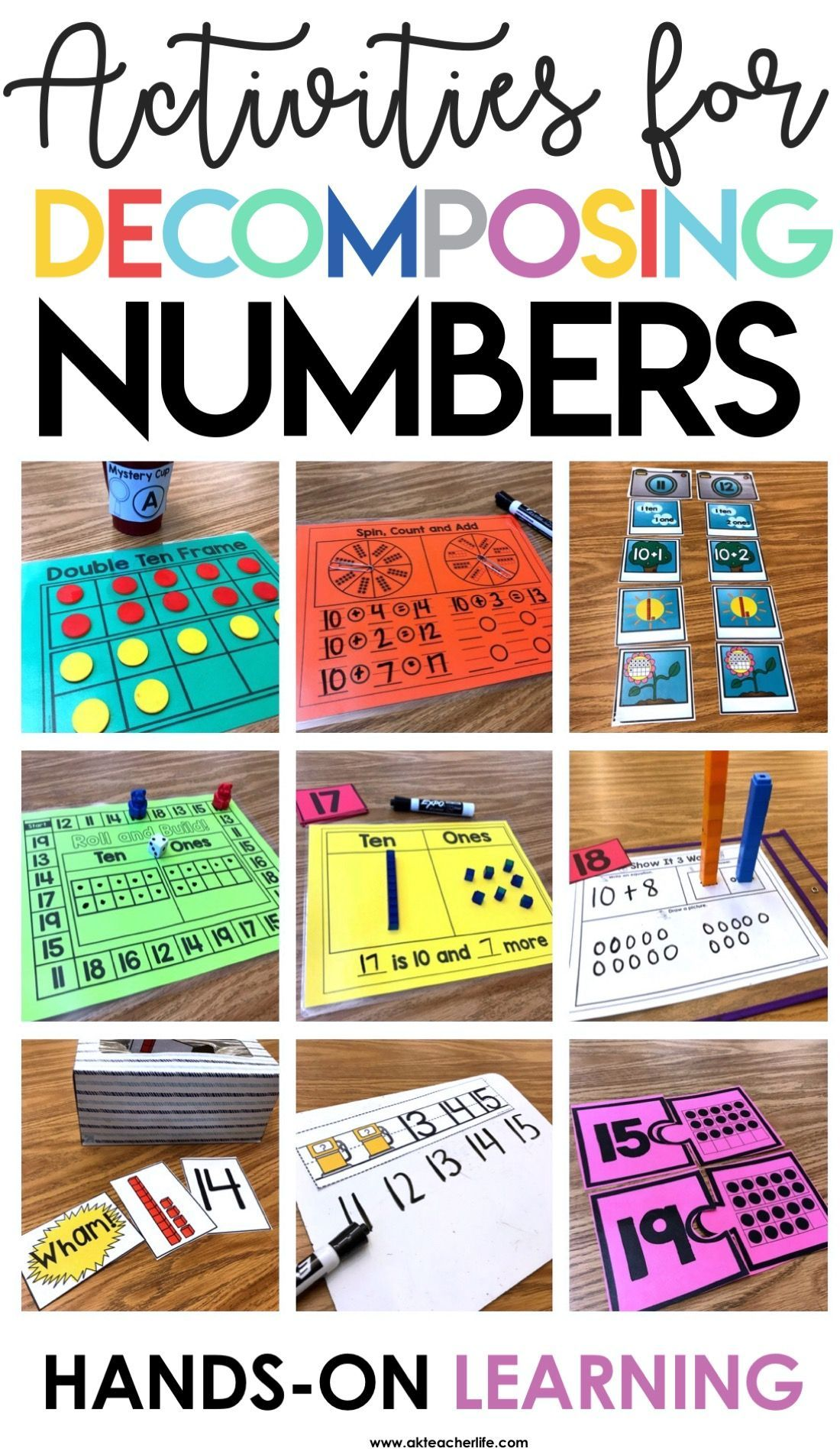18 Hands On Activities For Decomposing Teen Numbers Into