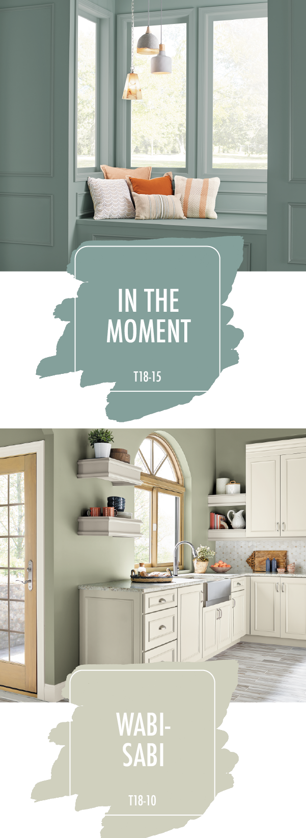 Looking for a little paint color palette inspiration for your next diy home makeover project check out this combination of in the moment and wabi sabi