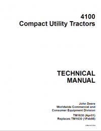 repair manual john deere 4100 tractor compact utility technical repair manual john deere 4100 tractor compact utility technical manual tm 1630