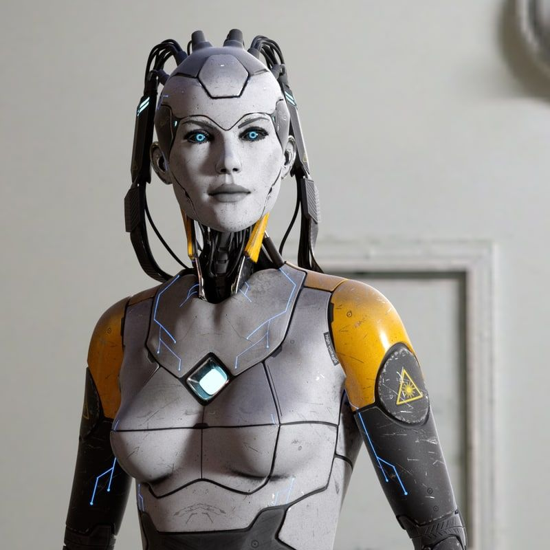 Sci Fi Android : D model sci fi female android character robots ai and