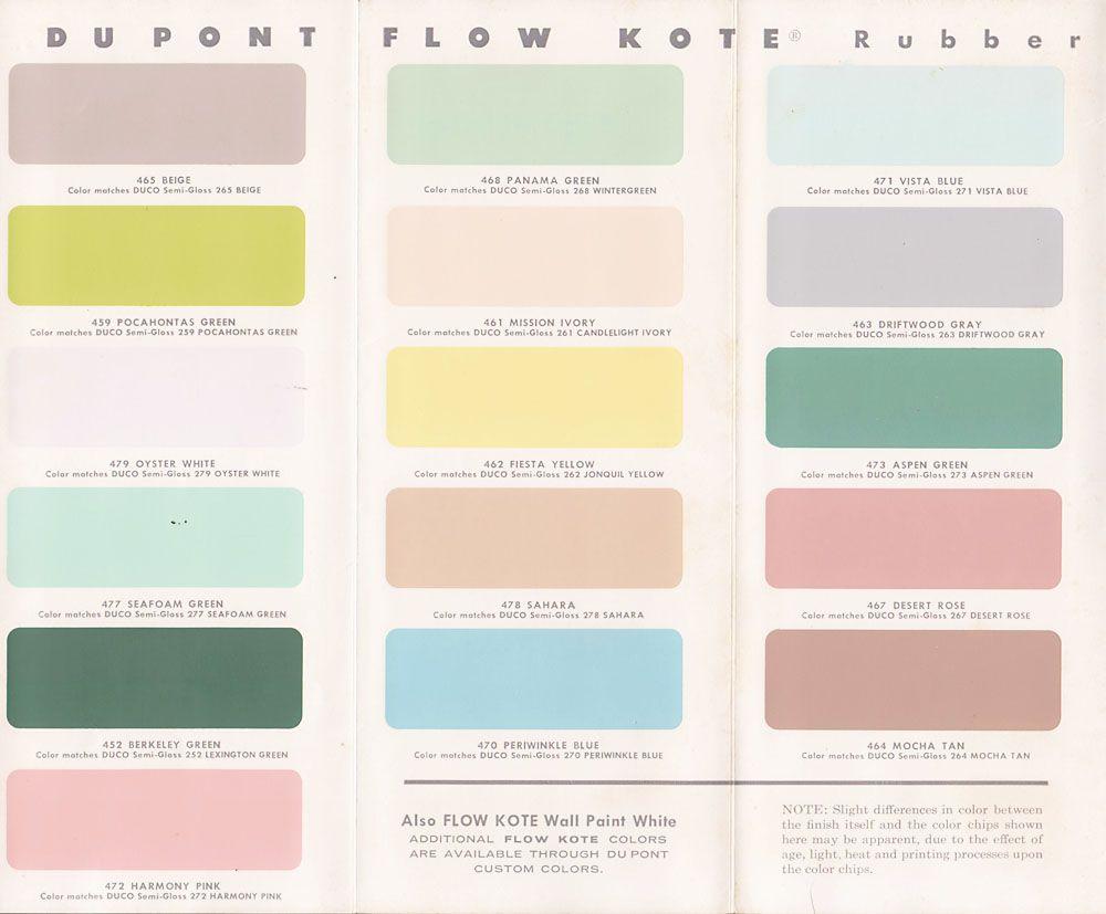 Vintage Goodness A Blog For All The Vintage Geeks Vintage Decorating 1950 S Paint Color Chip Brochures Vintage Paint Colors Color Color Chip