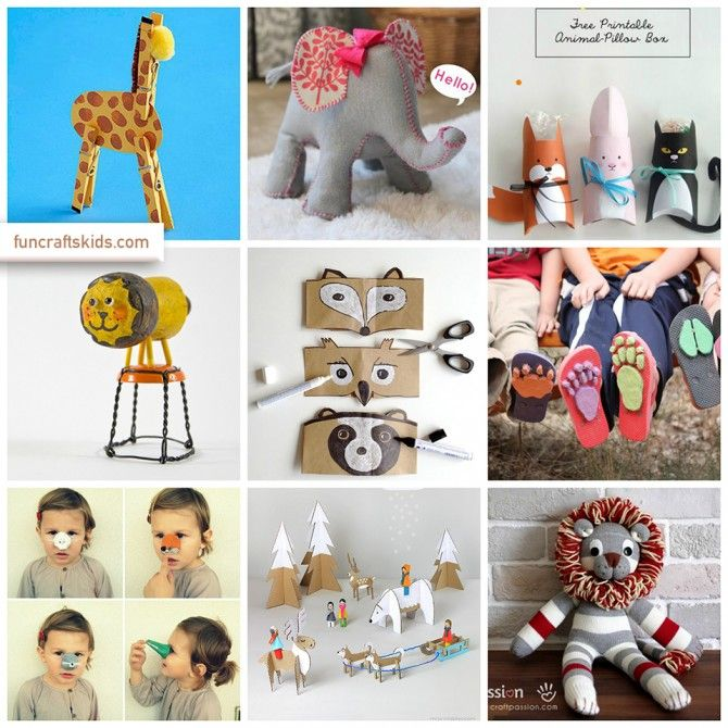 Wild Animals Crafts Round Ups Activities For Kids Animal Crafts