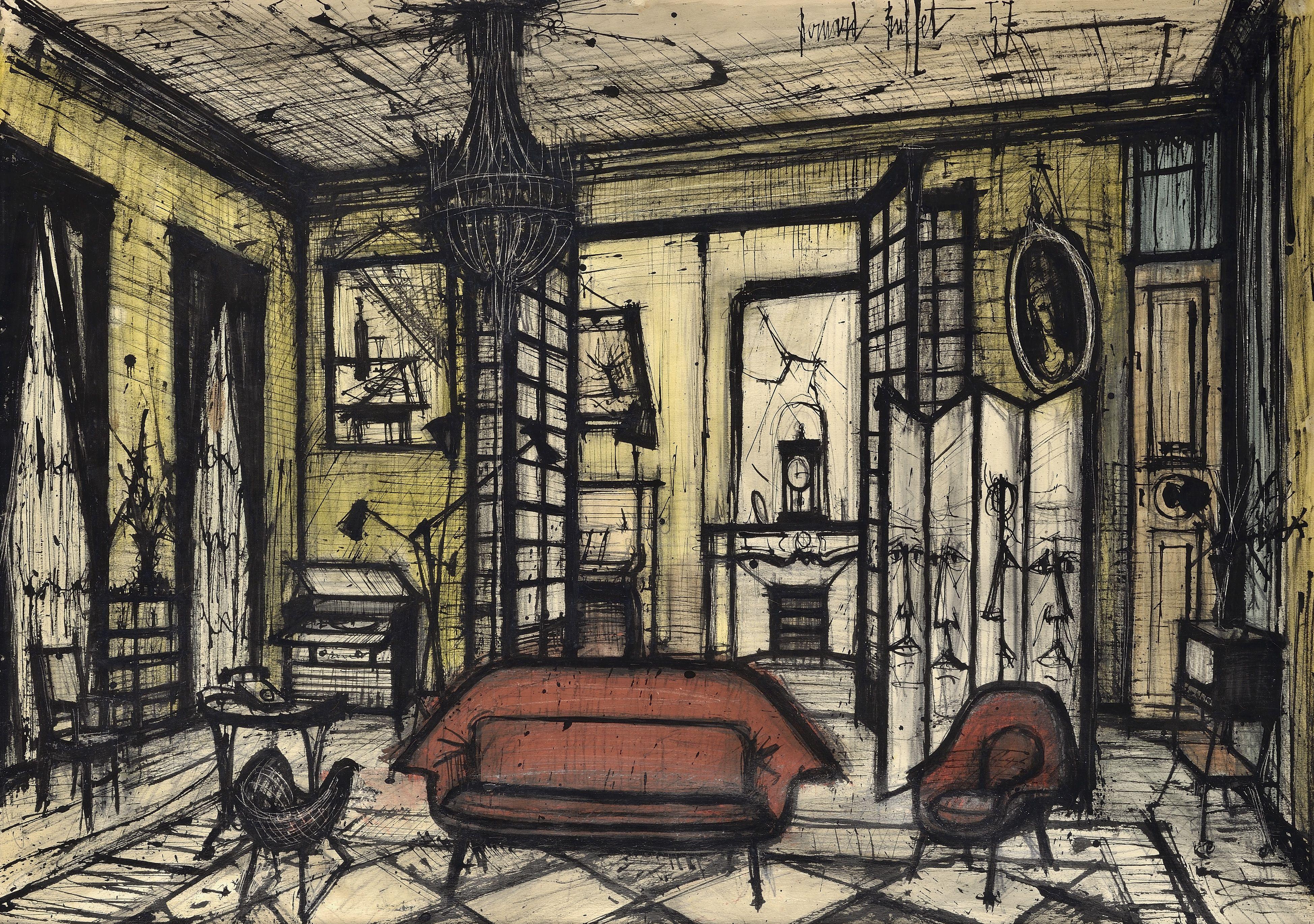 Image result for Bernard Buffet (avec images) | Peinture contemporaine, Buffet peintre, Peinture