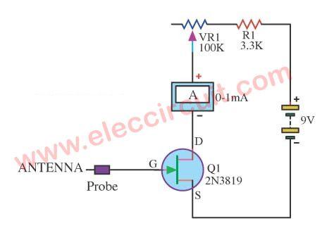 electro meter circuit using 2n3819 fet meters detectors rh pinterest com