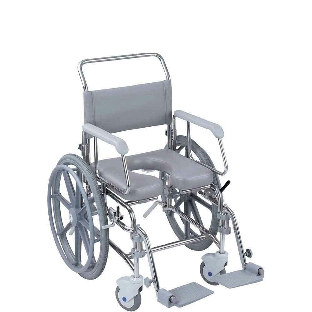 Transaqua Shower Chair Self Propelled Wide Range Of Accessories And Corrosion Resistant Frame Horseshoe Seat Shower Wheelchair Shower Chair Outdoor Chairs