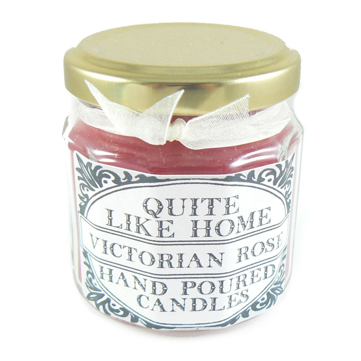 Victorian Rose scented 4 oz. jar candle by QuiteLikeHome on Etsy