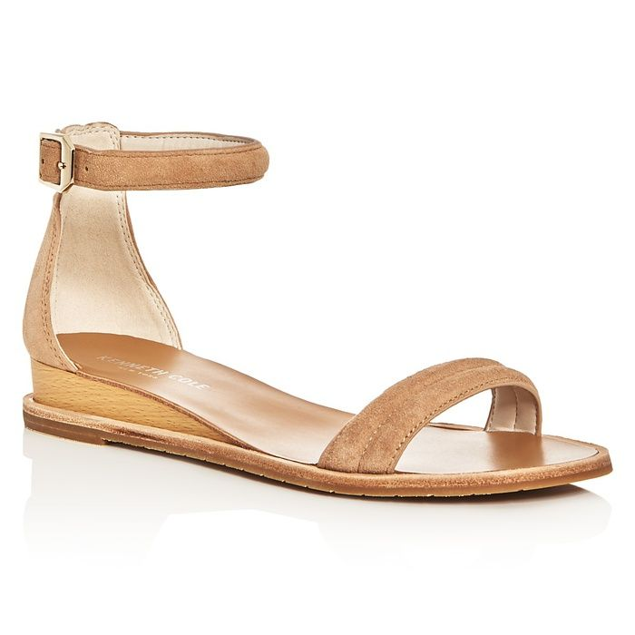a8179abf2 10 Best Nude Sandals -  7 Kenneth Cole Jenna Ankle Strap Demi Wedge Sandles   rankandstyle