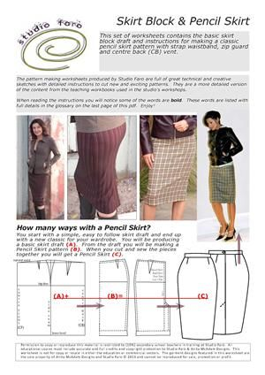 Awesome Site For Pattern Drafting Skirt Draft And Pencil Skirt