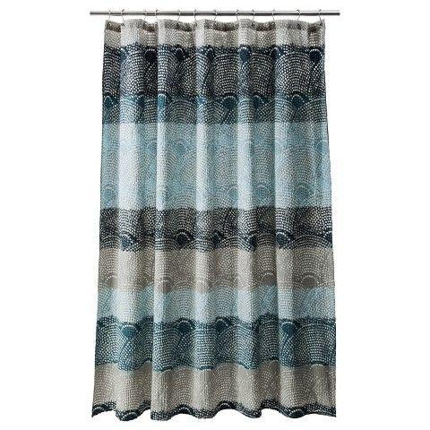 ThresholdTM Scallop Dot Shower Curtain 1999 Brown CurtainsTarget